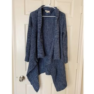 Open Front Soft Chunky Knit Draped Cardigan